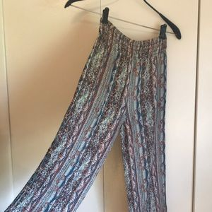 Boho stretchy pants